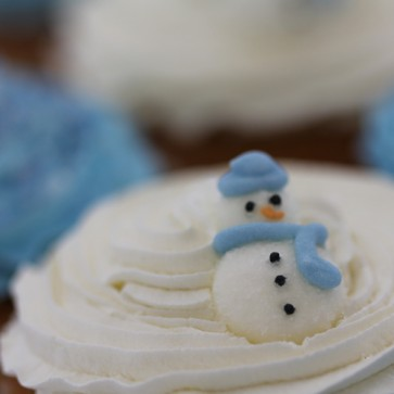 Christmas Vanilla Cupcakes - close up