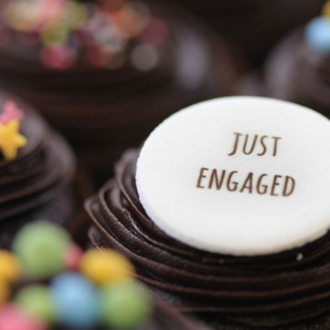Just Engaged - Chocolate - close up