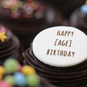 Birthdays By Age - Chocolate - close up