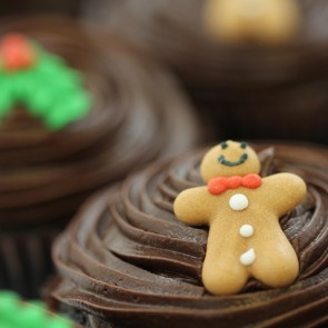 Christmas Chocolate cupcakes 2016 - close up