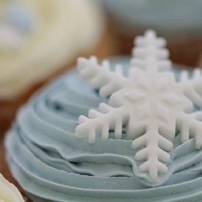 Christmas Vanilla Cupcakes - close up