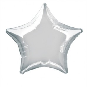 Silver Balloon - Star