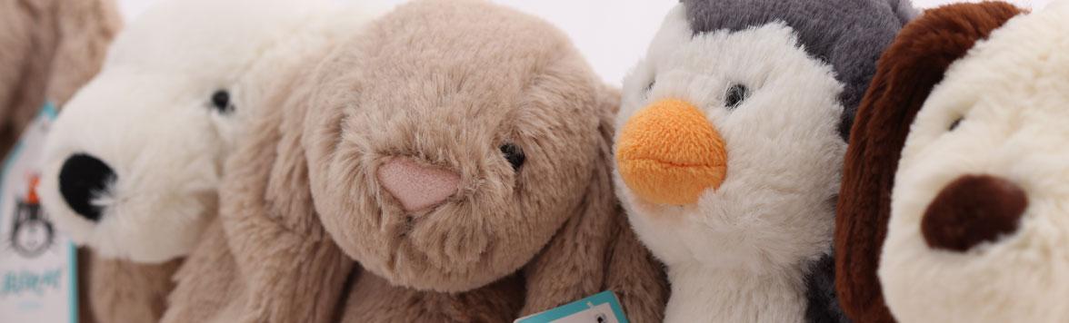 Meet the Bashful gang of soft toys