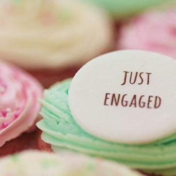 Just Engaged - Signature - close up