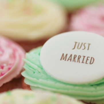 Just Married - Signature - close up