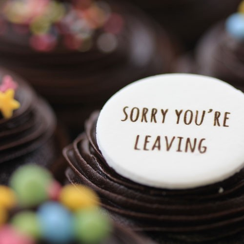 Sorry You Re Leaving Chocolate The Little Cupcake Company