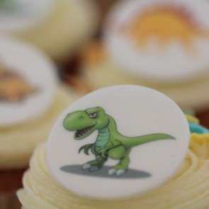 Dinosaur Cupcakes - close up