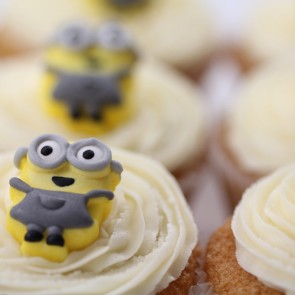 Minion Cupcakes - close up