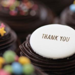 Thank You - Chocolate - close up