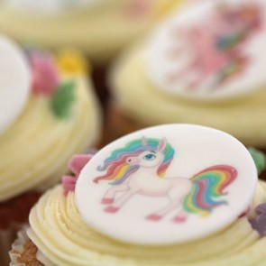 Unicorn Cupcakes - close up